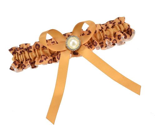 Strumpfband Leopard