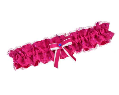 Strumpfband Pink Pailletten