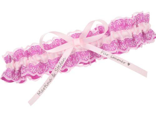 Strumpfband Rosa Pink
